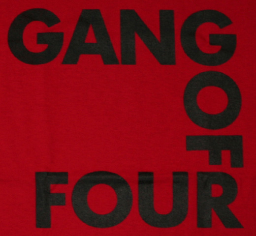 Gang Of Four / Square Logo Tee (Red)