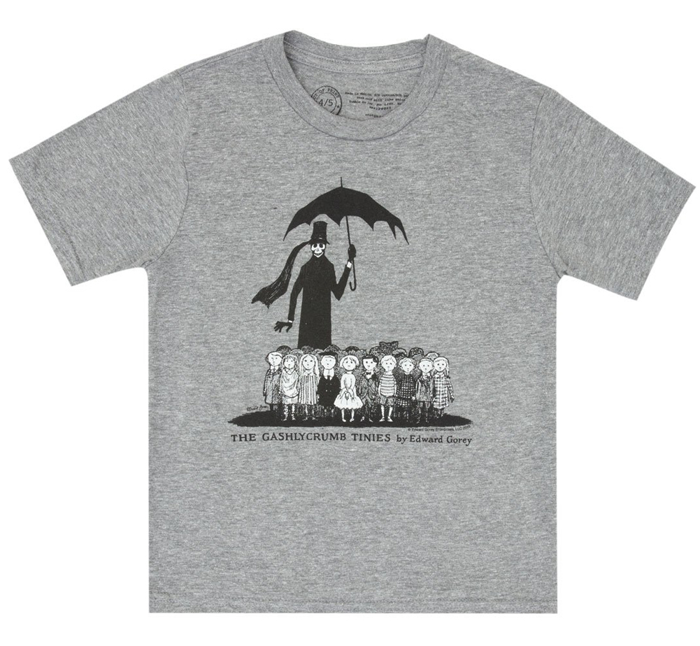 [Out of Print] Edward Gorey / The Gashlycrumb Tinies Kids Tee (Heather Grey)