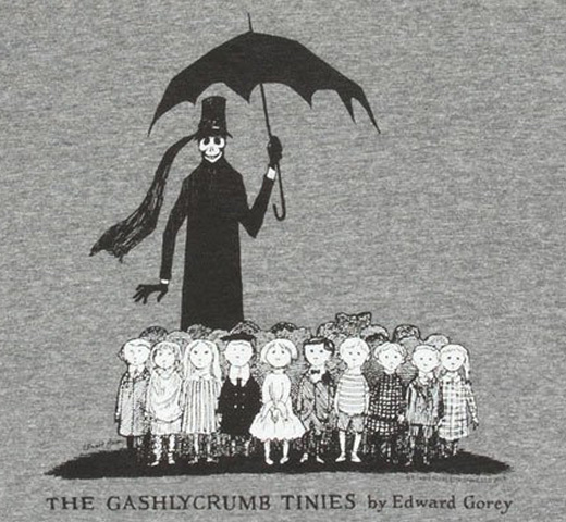 [Out of Print] Edward Gorey / The Gashlycrumb Tinies Tee (Heather Grey)
