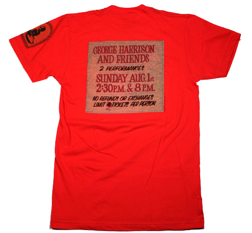 George Harrison / The Concert for Bangladesh Tee (Orange)