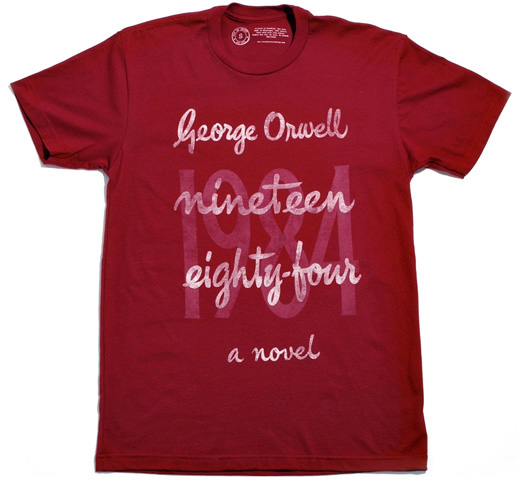 【Out of Print】 George Orwell / 1984 Tee (Cardinal)