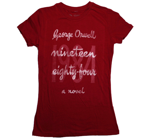 【Out of Print】 George Orwell / 1984 Tee (Cardinal) (Womens)