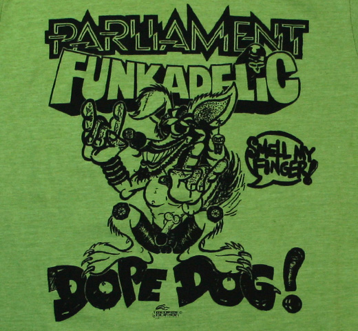 George Clinton / Dope Dog Tee (Heather Green)