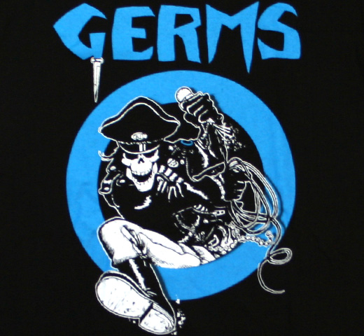 Germs / Leather Skeleton Tee (Black)