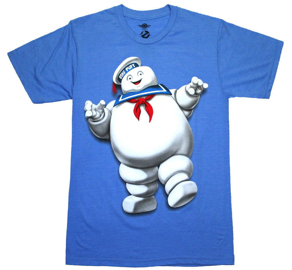 Ghostbusters / Stay Puft Marshmallow Man Tee (Light Blue)