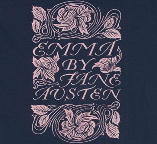 【Out of Print】 Jane Austen / Emma Scoop Neck Tee [Gilded] (Midnight Navy) (Womens)