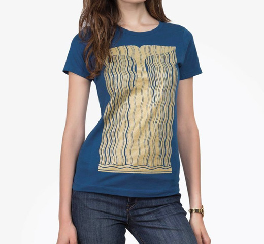 【Out of Print】 Herman Melville / Moby-Dick Tee [Gilded] (Cool Blue) (Womens)