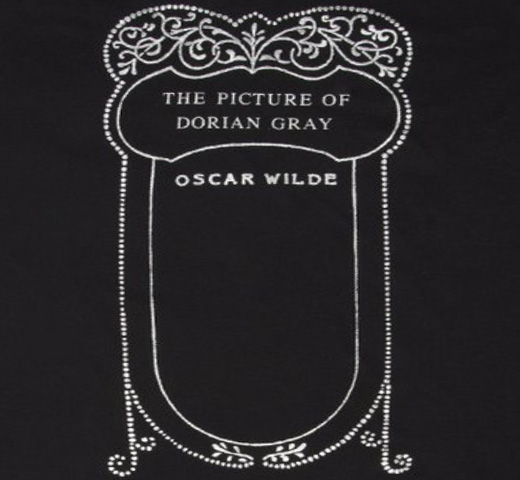 【Out of Print】 Oscar Wilde / The Picture of Dorian Gray Tee [Gilded] (Black)
