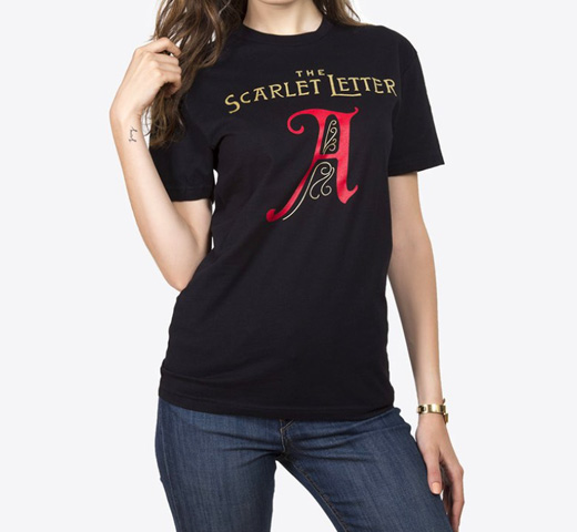 [Out of Print] Nathaniel Hawthorne / The Scarlet Letter Tee [Gilded] (Black)