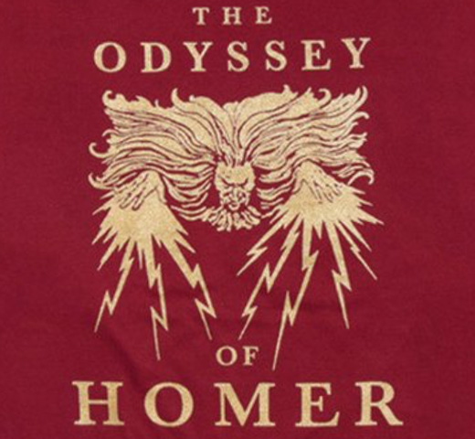 【Out of Print】 Homer / The Odyssey Tee [Gilded] (Cardinal)