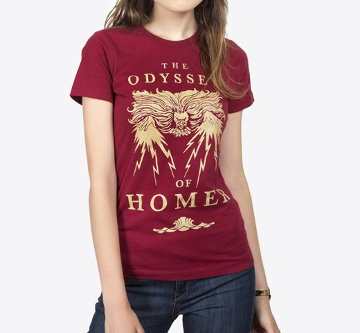 【Out of Print】 Homer / The Odyssey Tee [Gilded] (Cardinal) (Womens)