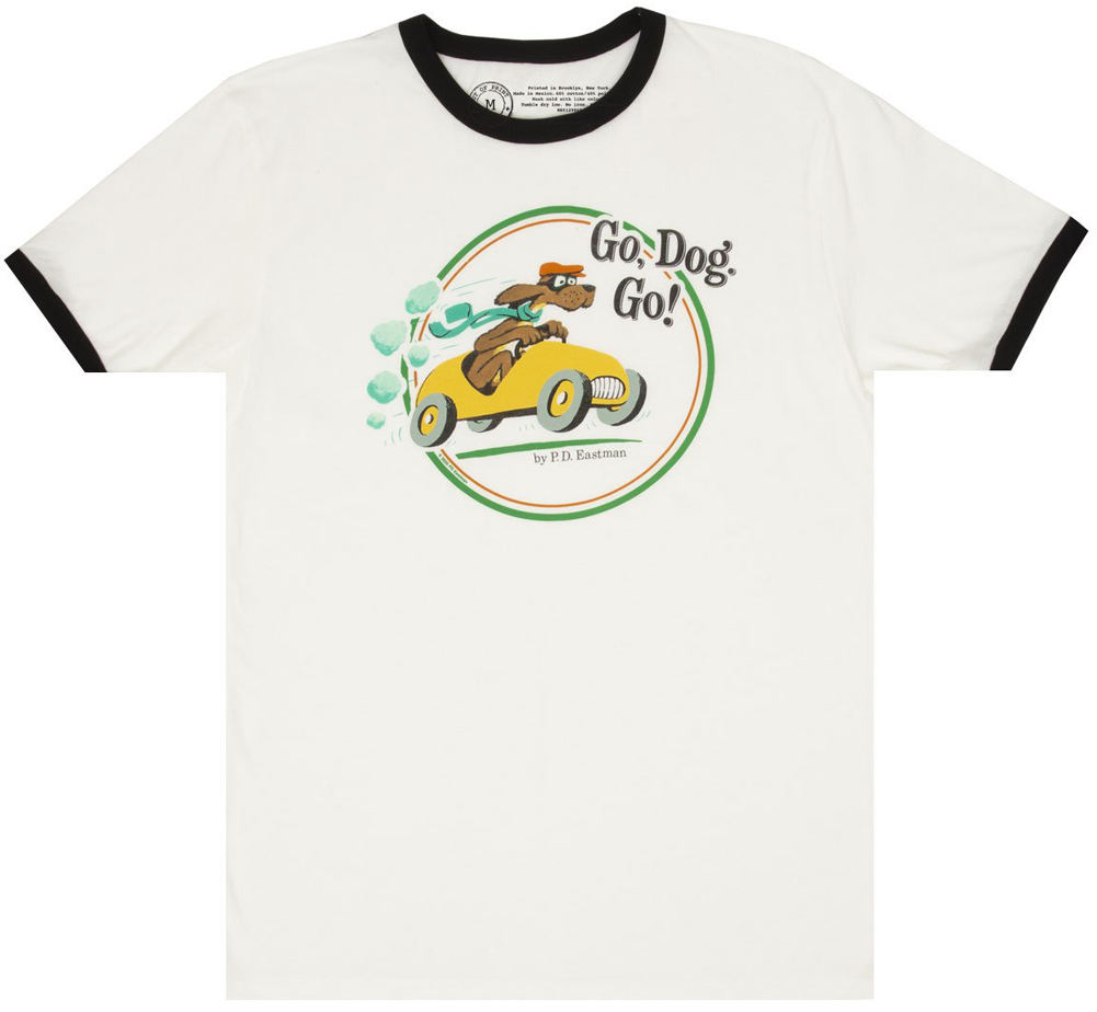 [Out of Print] P.D. Eastman / Go, Dog. Go! Ringer Tee (White/Black)