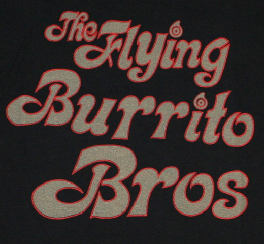 【Worn Free】 Gram Parsons / Flying Burrito Bros Tee (Black)