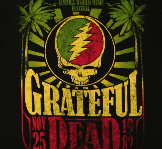Grateful Dead / Jamaica Tee (Black)