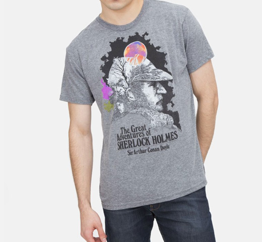 【Out of Print】 Arthur Conan Doyle / The Great Adventures of Sherlock Holmes Tee (Heather Grey)