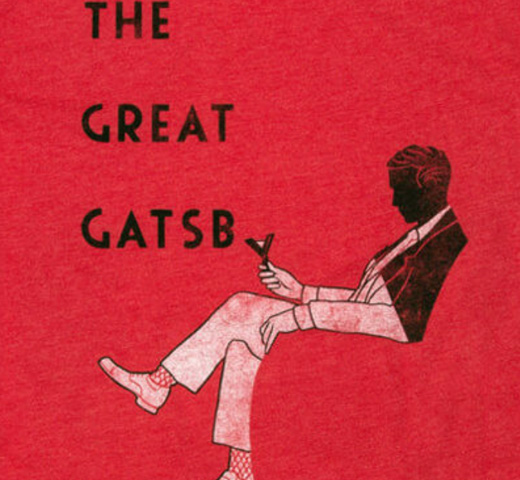 【Out of Print】 F. Scott Fitzgerald / The Great Gatsby [Lewis Ed] Tee (Red)