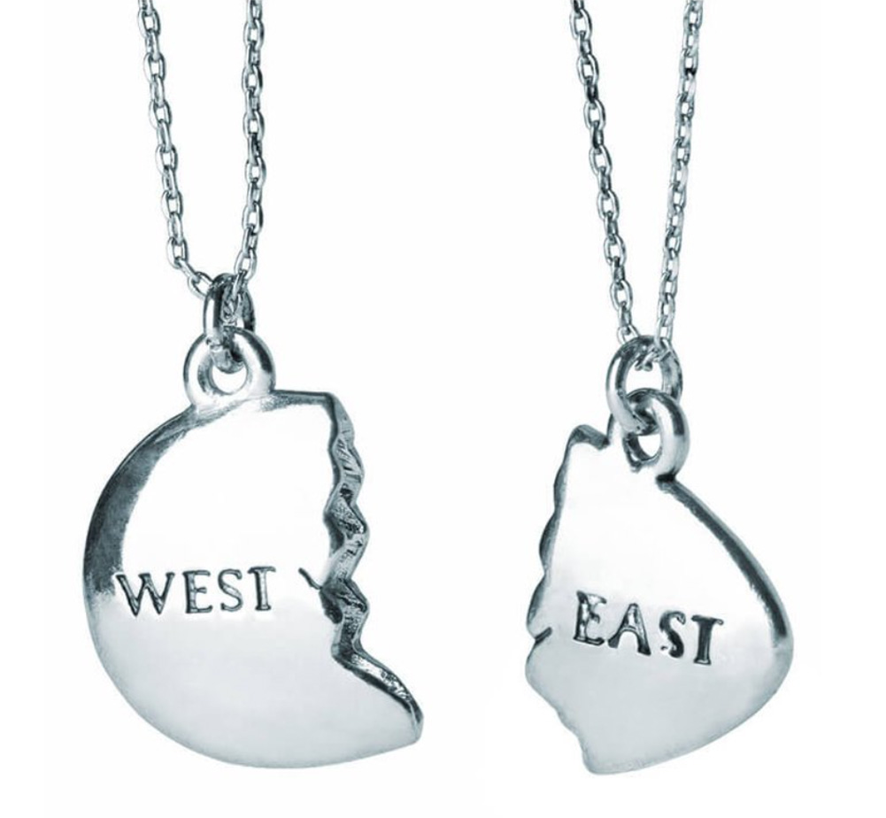 【Out of Print】 East and West Egg Necklace (The Great Gatsby) (Silver)