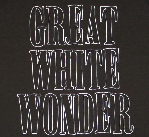 Great White Wonder Tee (Charcoal Gray)