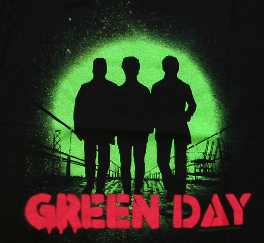 Green Day / Spray Tee (Black)