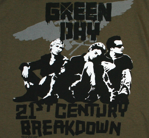 Green Day / Vandals Tee (Army Green)