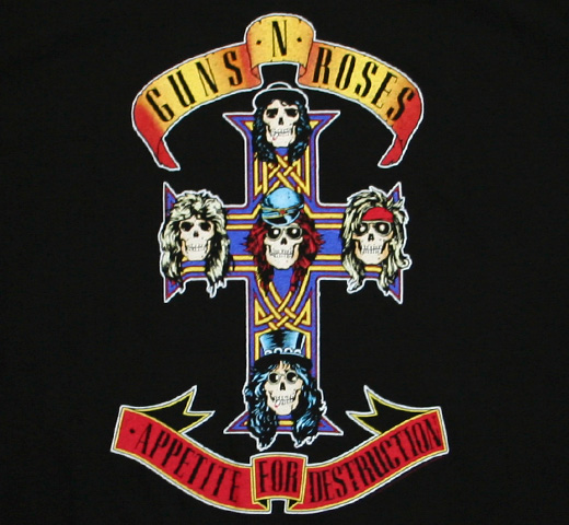 Guns N' Roses / Appetite for Destruction Tee (Black)