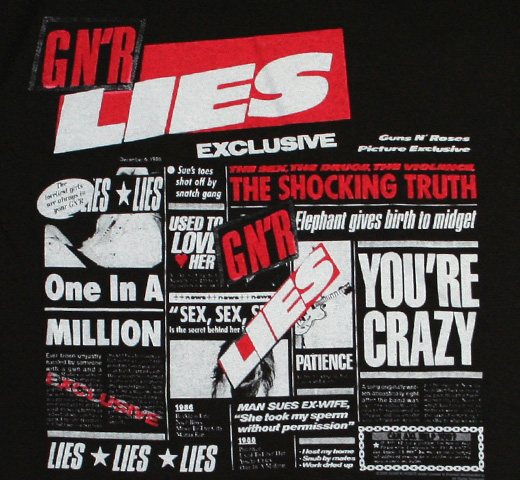 Guns N' Roses / exclusive the shocking truth GN'R LIES Tee