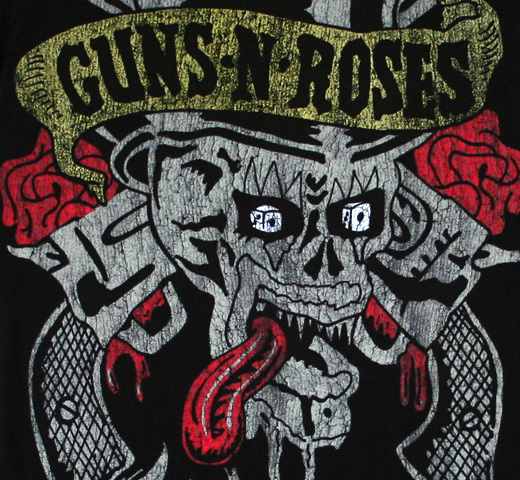 Guns N' Roses / Tongue Skull Tee (Black)