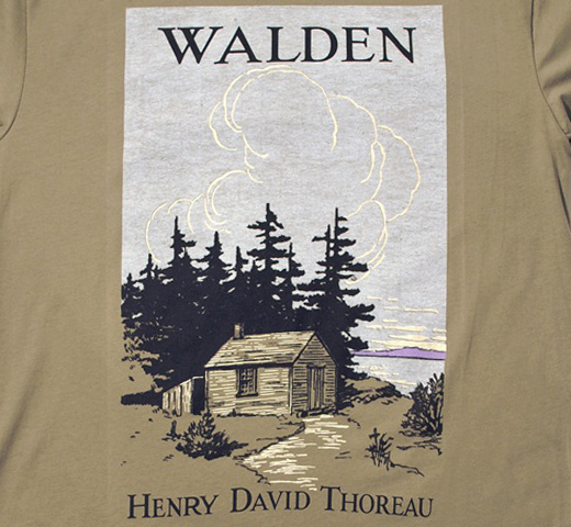 【Out of Print】 Henry David Thoreau / Walden Tee (Olive)