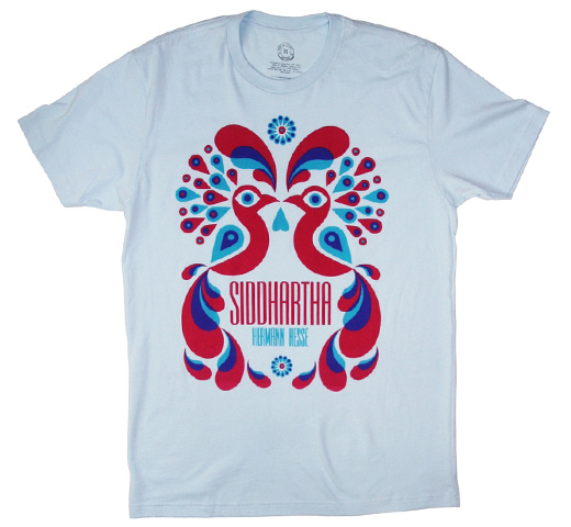 【Out of Print】 Hermann Hesse / Siddhartha Tee (Light Blue)