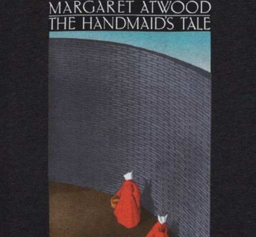 【Out of Print】 Margaret Atwood / The Handmaid's Tale Scoop Neck Tee 2 (Black) (Womens)