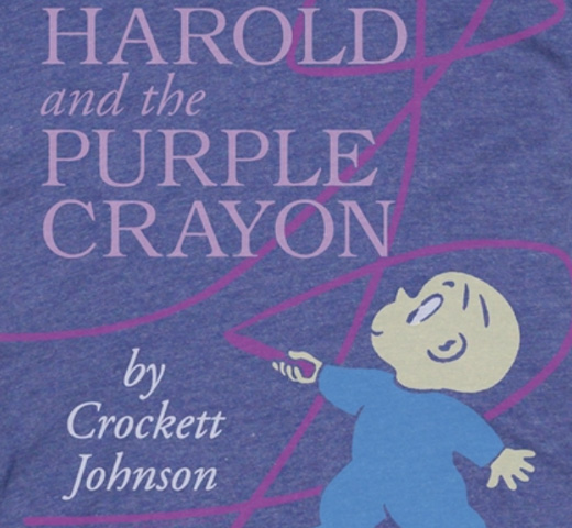 【Out of Print】 Crockett Johnson / Harold and the Purple Crayon Tee (Purple)