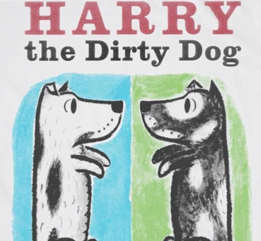[Out of Print] Gene Zion / Harry the Dirty Dog Tee (White)