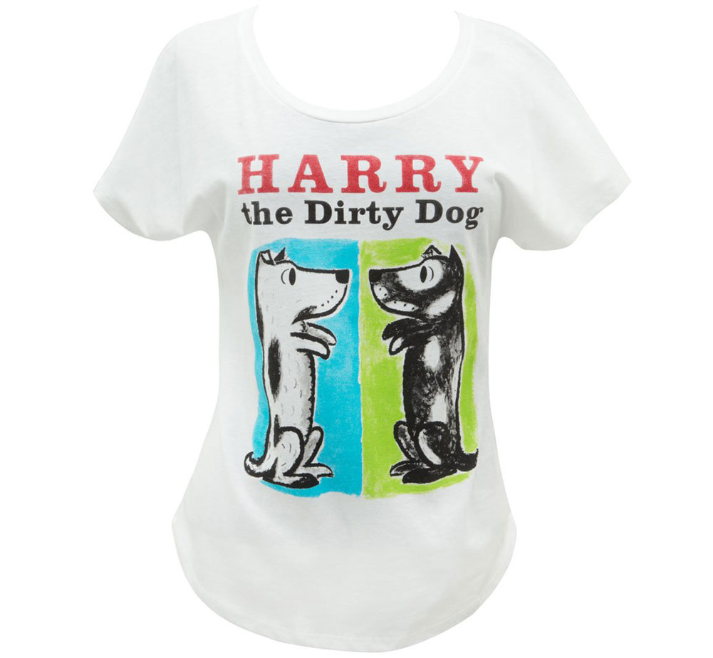 [Out of Print] Gene Zion / Harry the Dirty Dog Relaxed Fit Tee (White) (Womens)