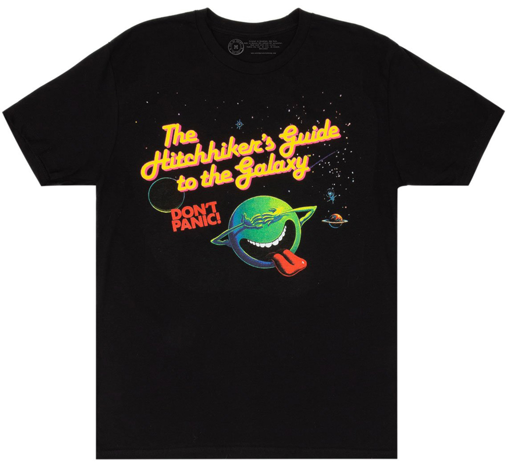 [Out of Print] Douglas Adams / The Hitchhiker's Guide to the Galaxy Tee 2 (Black)