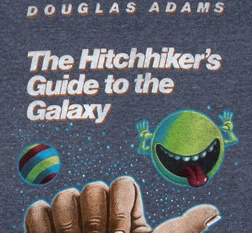 【Out of Print】 Douglas Adams / The Hitchhiker's Guide to the Galaxy Sweatshirt (Navy)