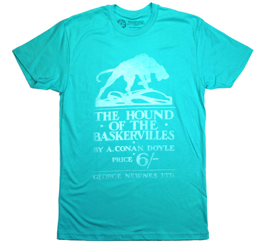 【Out of Print】 Arthur Conan Doyle / The Hound of the Baskervilles Tee (Light Blue)