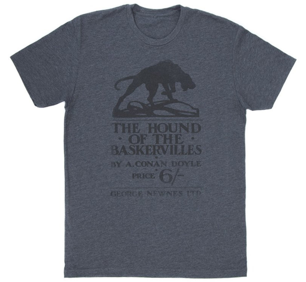 [Out of Print] Arthur Conan Doyle / The Hound of the Baskervilles Tee (Charcoal)