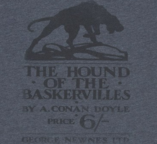【Out of Print】 Arthur Conan Doyle / The Hound of the Baskervilles Tee (Charcoal)