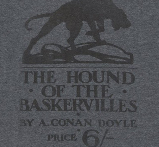 【Out of Print】 Arthur Conan Doyle / The Hound of the Baskervilles V-Neck Tee (Dark Heather Grey) (Womens)