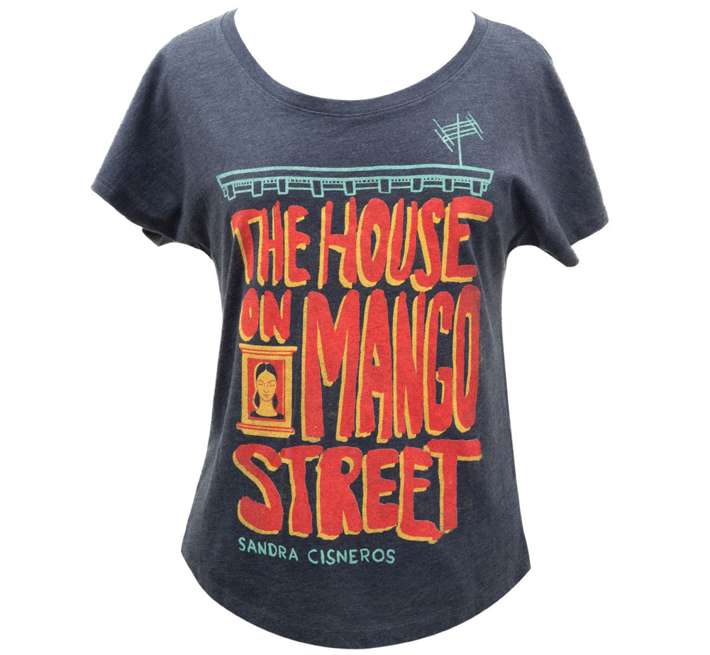 [Out of Print] Sandra Cisneros / The House on Mango Street Womens Relaxed Fit Tee (Navy Blue)
