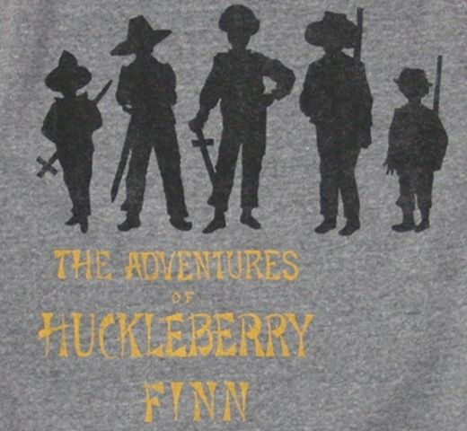 【Out of Print】 Mark Twain / Adventures of Huckleberry Finn Fleece (Heather Grey / Red)