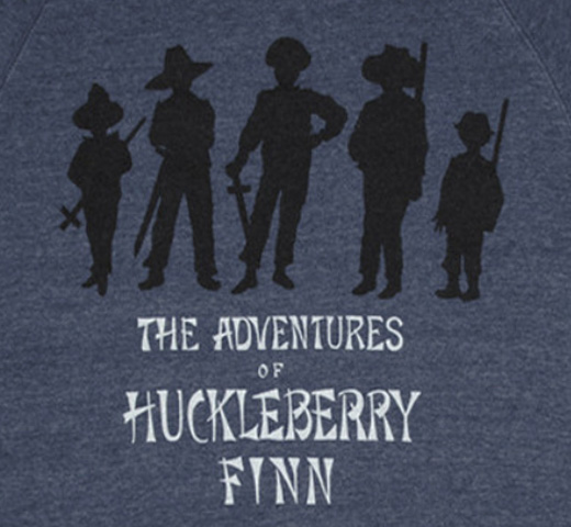 【Out of Print】 Mark Twain / Adventures of Huckleberry Finn Sweatshirt (Navy)