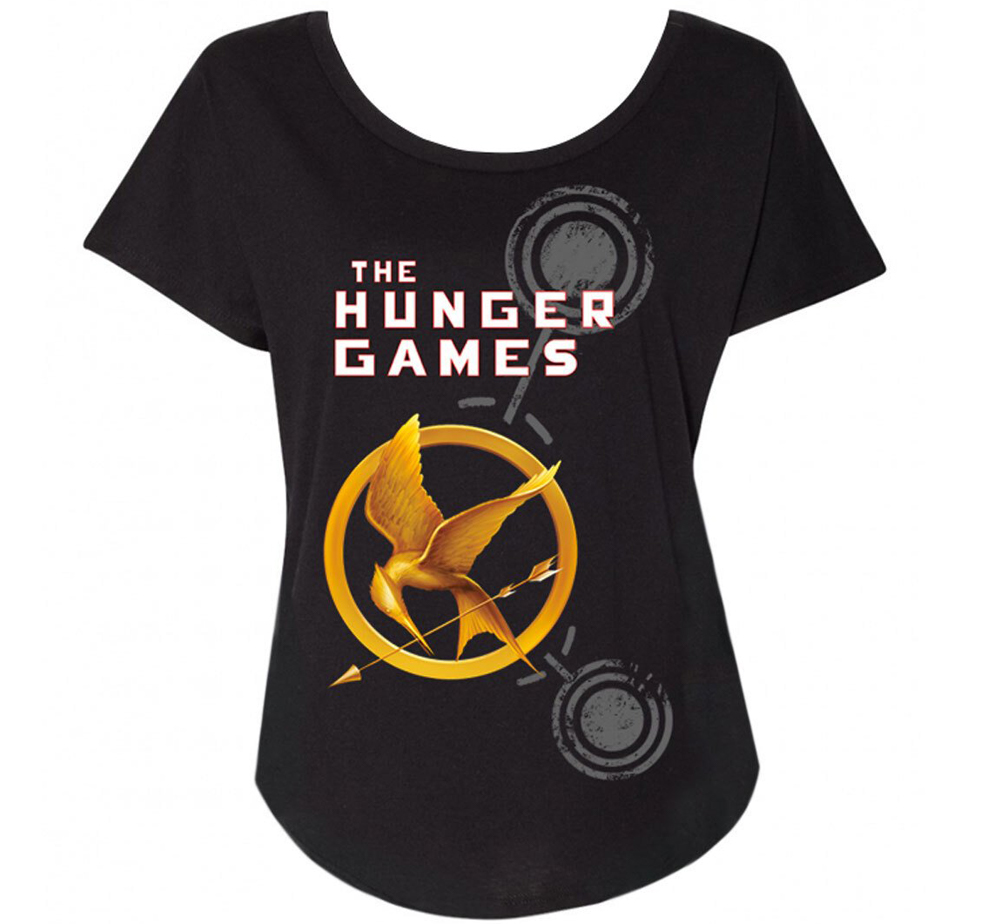 [Out of Print] Suzanne Collins / The Hunger Games Relaxed Fit Tee (Black) (Womens)