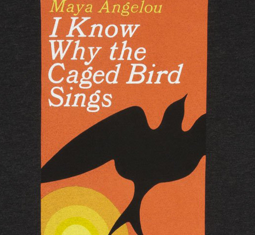 [Out of Print] Maya Angelou / I Know Why the Caged Bird Sings Tee (Vintage Black)