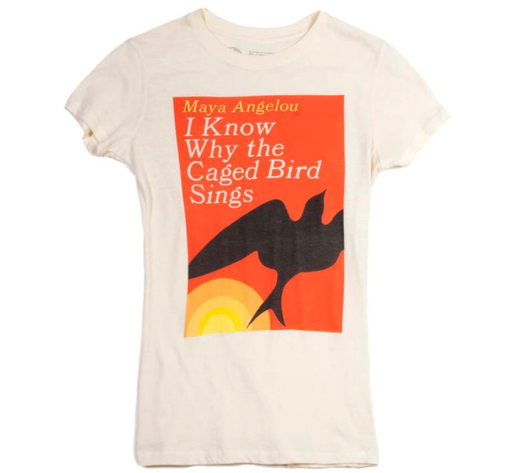 【Out of Print】 Maya Angelou / I Know Why the Caged Bird Sings Tee (Ivory) (Womens)