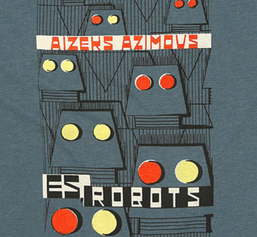 【Out of Print】 Isaac Asimov / Es, Robots Tee (Indigo) (Womens)