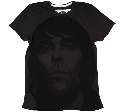 【Amplified】 Ian Brown / Face Ikon Photo Tee (Charcoal)