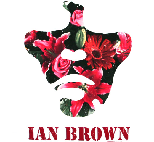 【Amplified】 Ian Brown / Flowery Face Tee (White)