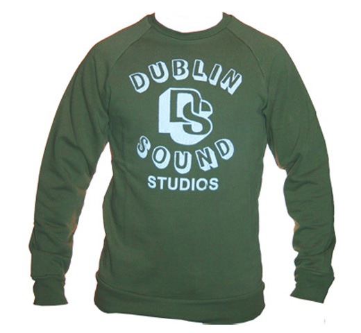 【Worn Free】 Iggy Pop / Dublin Sound Sweatshirt (Olive Drab)