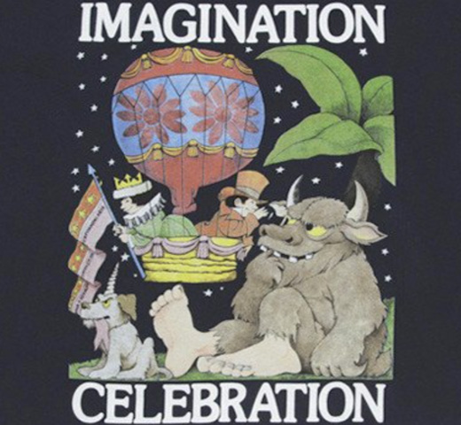 [Out of Print] Maurice Sendak / IMAGINATION CELEBRATION Tee (Midnight Navy)